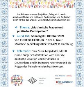 Flyer HoR politische Partizipation