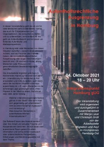 Veranstaltung Aufenthaltsrechtliche Ausgrenzung 04.10.21-001